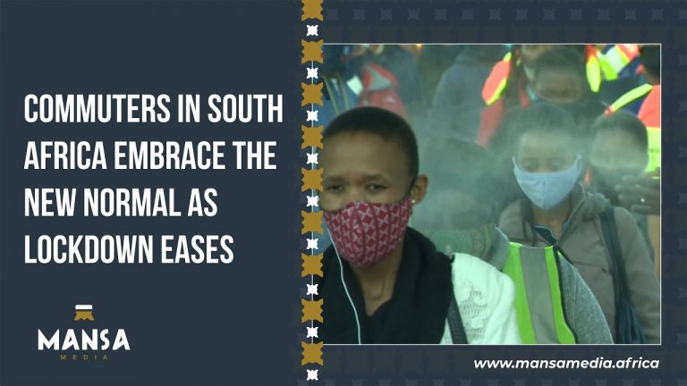 Commuters in South Africa embrace the new normal as Lockdown eases