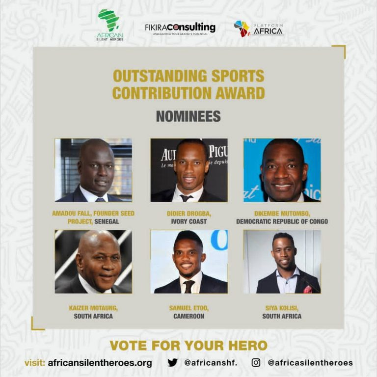 African governments, sporting icons Eto'o and Drogba shortlisted for 2020 Frontline Heroes Awards
